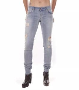 $218 Diesel Women's Grupee Super Slim Skinny Jeans Destroy R51Y8 Size W28-L32