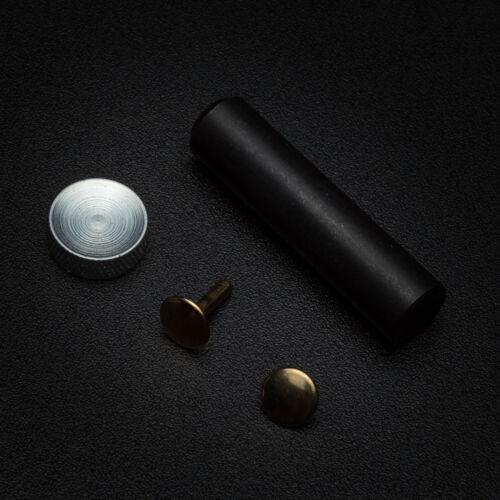 Cuir rivets outil 12x10mm double cap long réparation tubulaire solide or argent