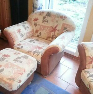Details Zu Couchgarnitur Sofa Sessel Hocker Landhaus Hoher Np Ponsel Federkern