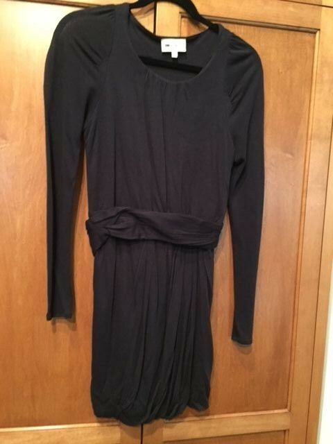 Athe Vanessa Bruno SZ S Sheath Navy Blau Dress with Obi Belt