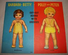 Fabulous UN-CUT Vintage 1933 Barbara Betty Polly & Peter Paper Dolls (#14228)