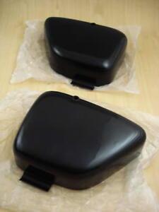 Honda-90-C200-CA200-C201-Side-Cover-LH-amp-RH-BLACK-A-PAIR