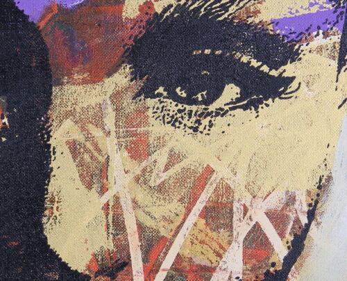 A0 canvas modern painting wall Graffiti Street Art  Print girl woman face