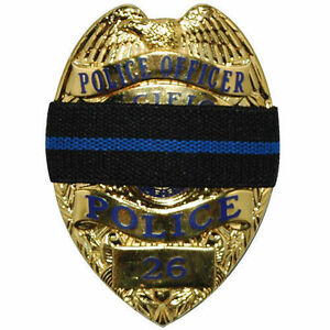 Thin-Blue-Line-Mourning-Band-Memorial-Badge-Cover-for-Police-Reversible
