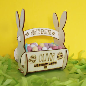 Personalised easter egg bunny rabbit basket for egg hunts or image is loading personalised easter egg bunny rabbit basket for egg negle Choice Image