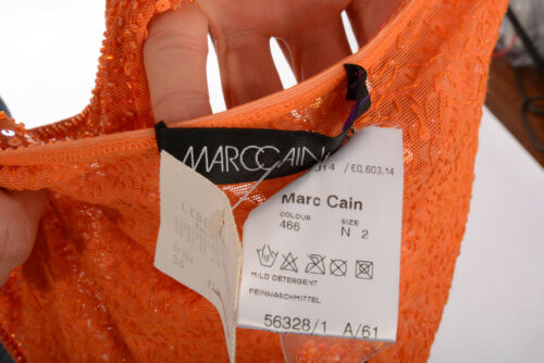 219 Komplett Orange Vvp Pailletten 36 Top Gr Neu D Stretchig 2 N Marccain qE7HwORx