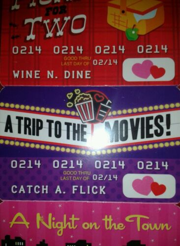 Love Coupon Cards for Your Favorite Valentine Gift 4 Novelty Debit