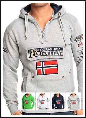 Geographical Norway Herren Jacke Polo Sweat Capuche Sport Homme W1090h/gn