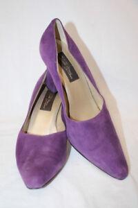 Sixième Véritable Femmes 10m Meucci b16 Italie Violet Classique Pointu Toepumps Sz Cuir UVSzMpqG