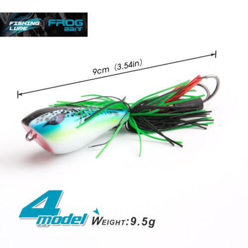 9CM 9.5g Crankbait Fishing Lure Snakehead Frog Bait Soft Plastic Topwater Baits