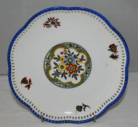 "Schumann Bavaria - Retro/vintage floral 7"" reticulated side plate"