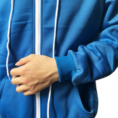 Undertale Sans Cosplay Costume Blue Hoodie Hooded Sweatshirt Warm Winter Jacket