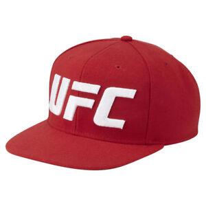 6051dbd677b Image is loading Reebok-UFC-Ultimate-Fan-Flat-Brim-Red-Snapback-