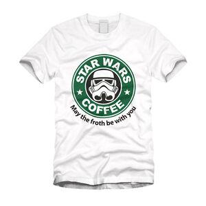 T Coffee White Starbucks Parody Shirt Starwars Stormtrooper kwO80XnP