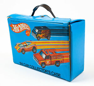 Hot-Wheels-24-Car-Vinyl-Collector-039-s-Redline-Era-Carrying-Case-1975-w-Trays