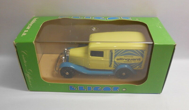 Eligor 1 43 Scale Scale Scale Diecast Model 1275 FORD V8 VAN 'ALLINQAUNT' amarillo 63a1c5