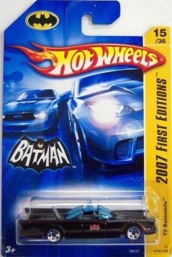 Lote a granel de 30 X 1966 Serie De Tv Batmobiles - 2007 tarjeta de largo 1 64 Batman Hot Wheels