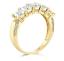 3 Ct Princess Cut Real 14k Yellow Gold 5-Stone Wedding Anniversary Band Ring