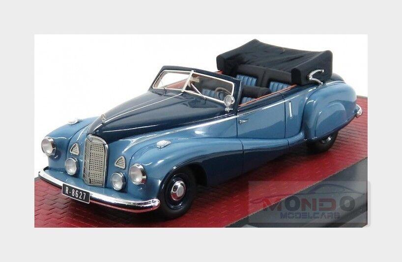 Mercedes Benz 320A W142 Cabriolet 1948 bluee MATRIX 1 43 MX51302-171 Model