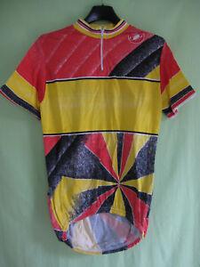 Maillot-cycliste-vintage-Castelli-couleur-Jaune-et-noir-80-039-S-Jersey-3-M