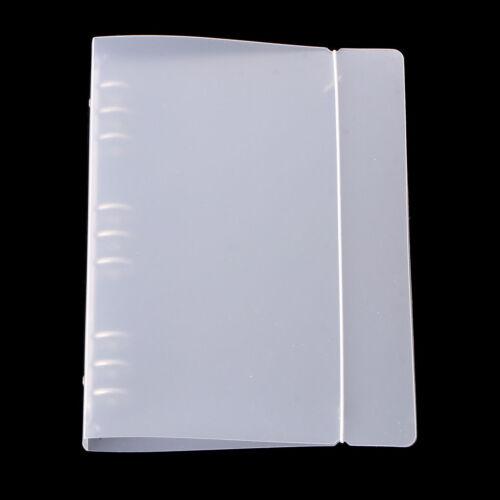 Loose Leaf Binder Plastic Documents Paper Holding Case Protector Cover