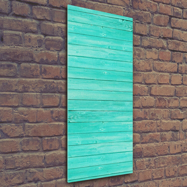 Wand-Bild Kunstdruck aus Hart-Glas Hochformat 50x125 Backsteinmauer