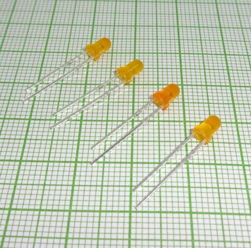 E136f 10 X Blink Led im Orange farbe 3mm, diffused, flash + Widerstand