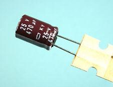 10pcs Nippon ChemiCon KY 470uf 25v 105C Radial Electrolytic Capacitor NCC