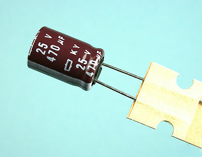 1x Capacitor Nippon 470uF 25v 105C 10x16mm US Seller Radial