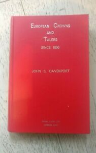 Book-Coin-European-Crowns-And-Talers-Since-1800-John-S-Davenport-1964