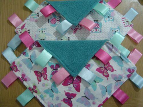 Polaire Taggy couvertures Candy hiboux ou Papillons 22 cm