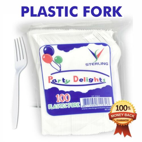 New High Quality Party Delights Plastic Fork Pack of 100-1000 Quantity