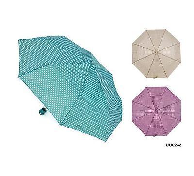 KS Brands UU0232 Tiny Spot Pattern Supermini Umbrella With Matching Sleeve New