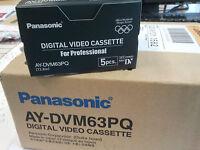 Panasonic 5 X Ay-dvm 63 Ay Dvm Pq Mini Dv Professional Leerkassette Camcorder