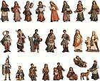 Krippen Krippenfiguren Markus Zusatzfiguren 24-teilig für Figuren Größe ca.7cm