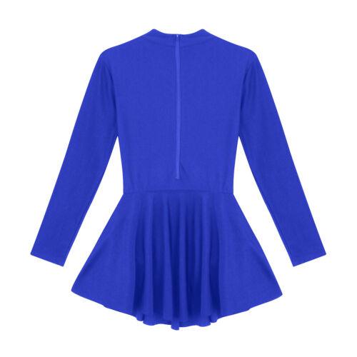 Women Praise Dance Dress Costumes Long Sleeve Ballet Leotard Ballroom Dancewear