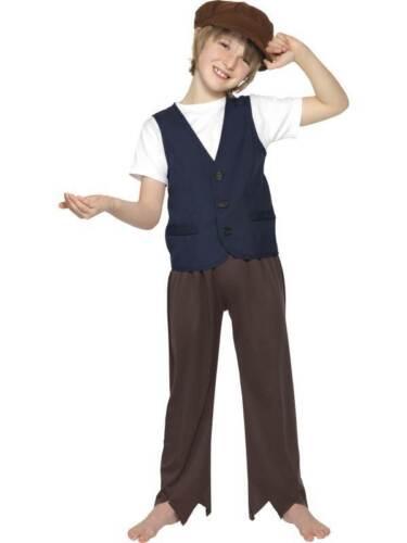 BOYS GIRLS CHILDS VICTORIAN POOR PEASANT BOY FANCY DRESS COSTUME OLIVER TWIST
