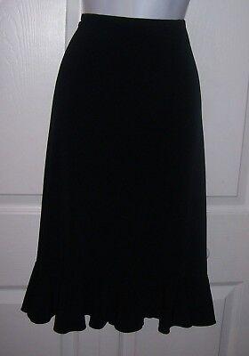 "Faithful Merona Women's Medium Black Skirt Stretch Fabric Waist 32"" Ruffle Hemline Sale A Complete Range Of Specifications Clothing, Shoes & Accessories Skirts"