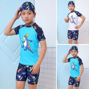 Kids-Boys-Swimming-Costume-3pcs-Swimwear-Swimsuit-Beachwear-Bathing-Surfing-Suit