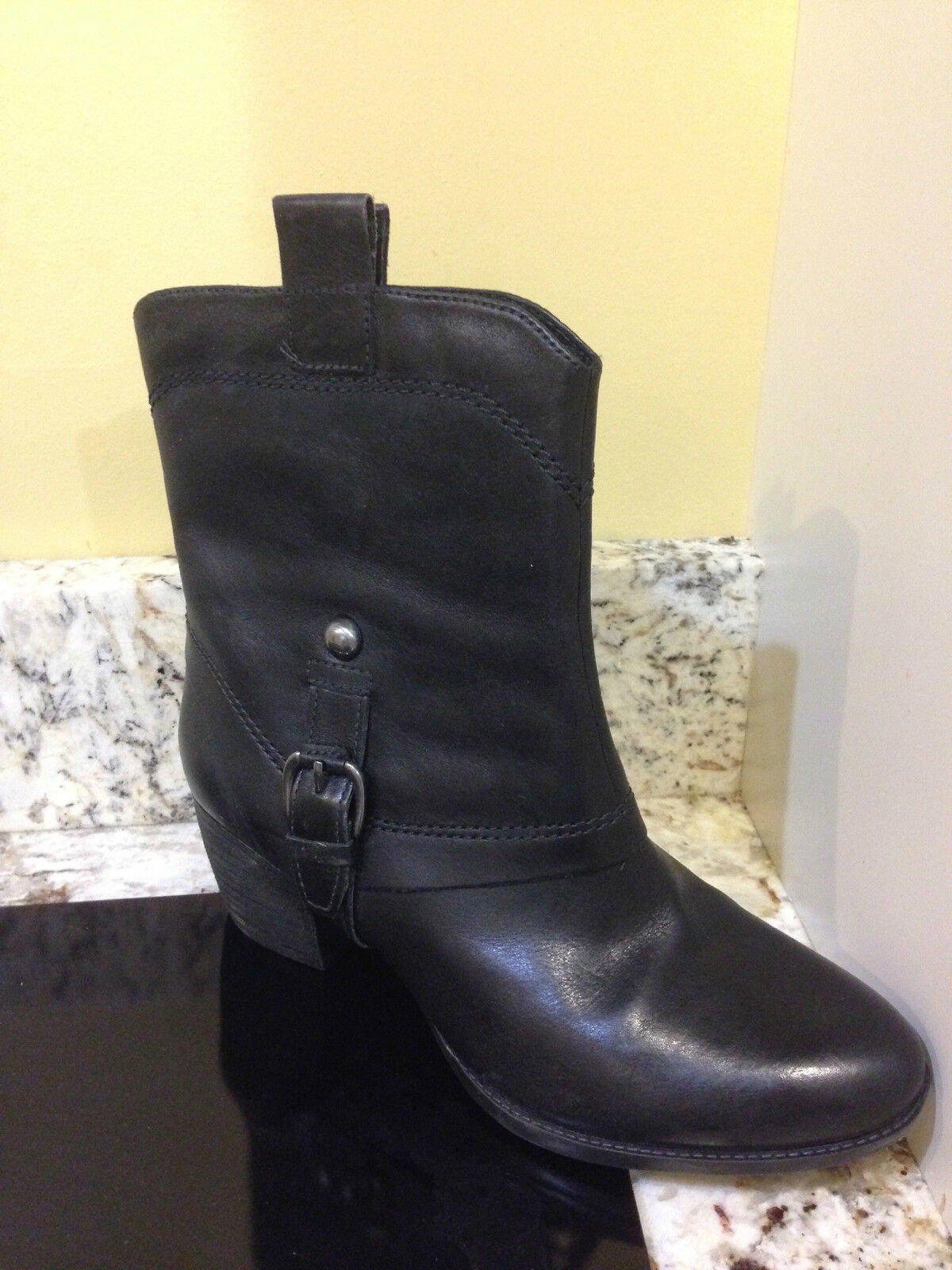 CLARKS WOMEN'S BOOTS SALOON LAUREL 8M BLACK