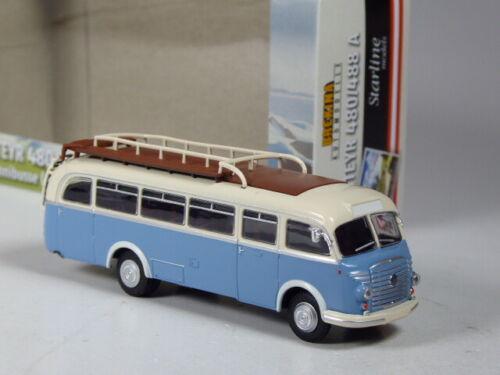 TOP Brekina Starline Österreich Steyr 480 A Reisebus blau-weiß in OVP