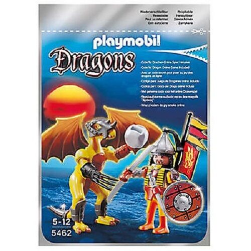 PLAYMOBIL Dragons FIRE DRAGON With 23 Pieces SAMURAI Playset 5462 2012 - NEW