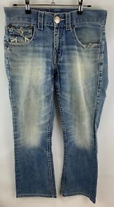 USED-MENS-TRUE-RELIGION-Denim-Jeans-Size-30-Row-30-Seat-34-Denim-Made-in-USA