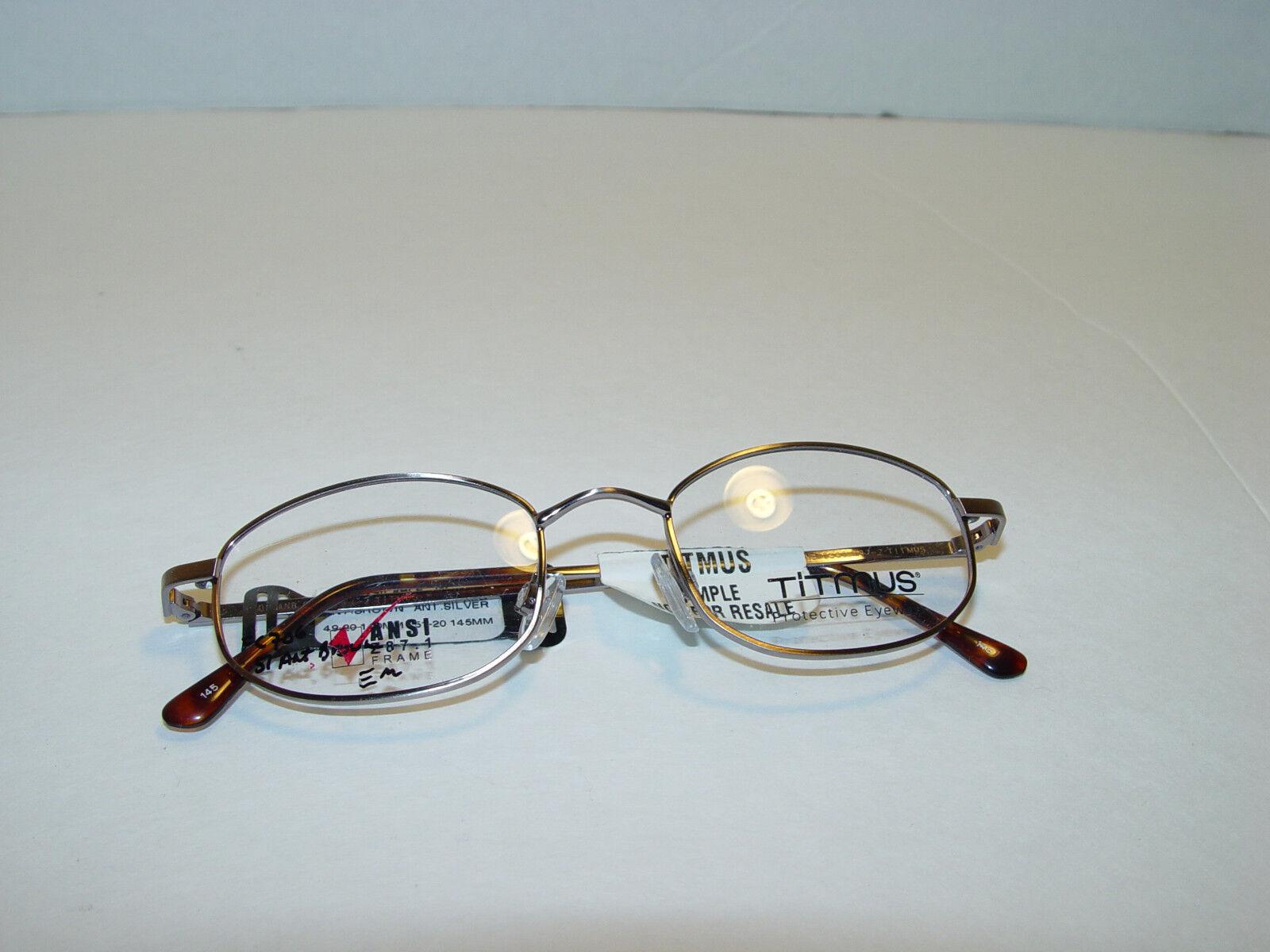 NEUER Titmus FC706 Antique braun Brillen Frames 51-20-145