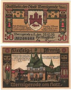 Germany 50 Pfennig 1920 Notgeld Wernigerode UNC Uncirculated Banknote - <span itemprop=availableAtOrFrom>Glasgow, United Kingdom</span> - Intention to refund must be given by email or ebay message within 14 working days of the day after the customer receives their goods. Goods must be returned in original, unused, unworn co - Glasgow, United Kingdom