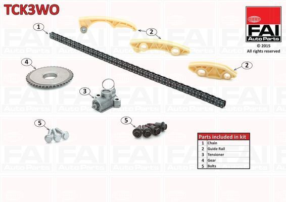 FAI Timing Chain Kit TCK3WO  - BRAND NEW - GENUINE - 5 YEAR WARRANTY