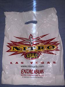 VINTAGE-WCW-NITRO-GRILL-LAS-VEGAS-Bag-WWF-WWE-nWo-NXT-Excalibur