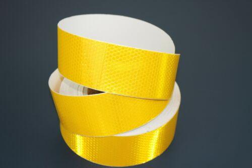 3m x 50mm YELLOW High Intensity Reflective Tape Self-Adhesive Vinyl Lorry
