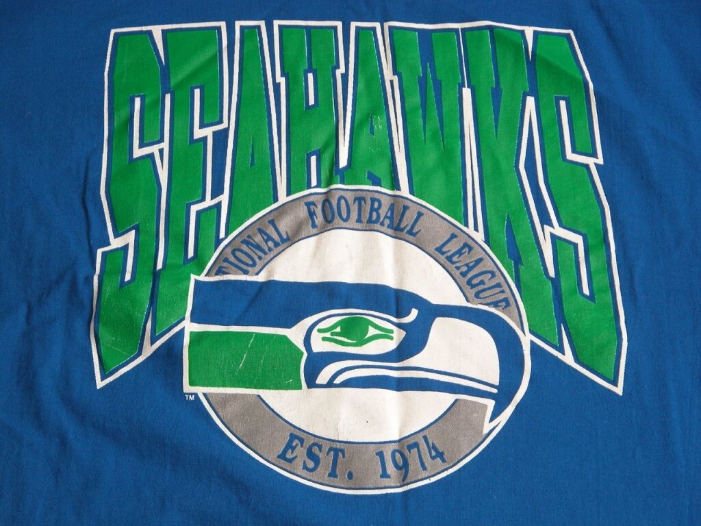 Vtg 1990s Seattle Seahawks Jersey Logo Football NFL Logo Jersey T Shirt L 8fe159