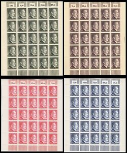 Stamp-Germany-Mi-799-802-Sheet-1941-WWII-3rd-Reich-War-Era-AH-Hitler-MNH